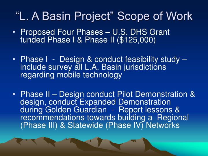 """""""L. A Basin Project"""" Scope of Work"""