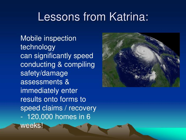 Lessons from Katrina: