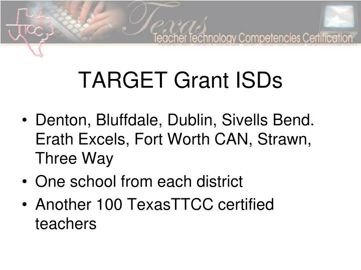 TARGET Grant ISDs