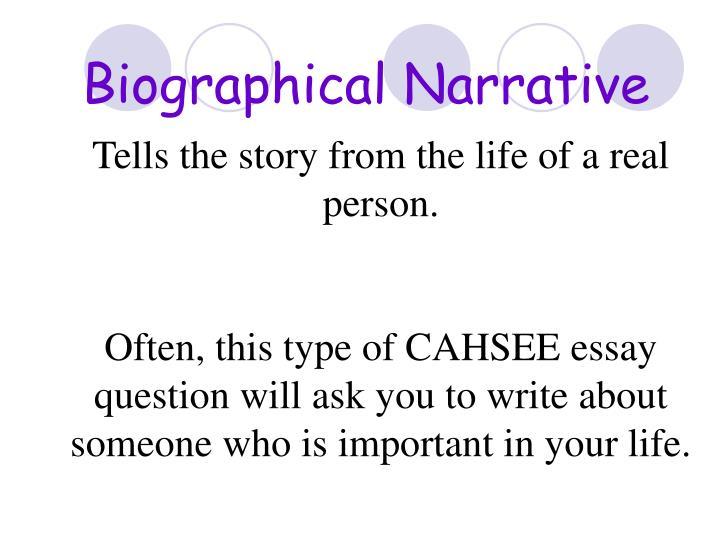 Biographical Narrative