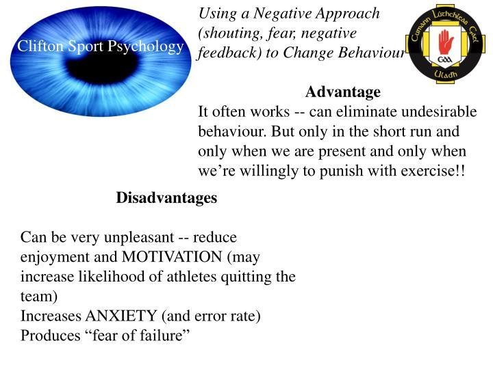 Using a Negative Approach