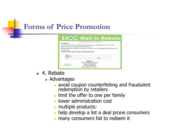 Forms of Price Promotion