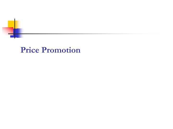 Price Promotion