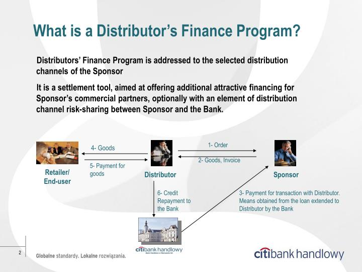 What is a Distributor's Finance Program?
