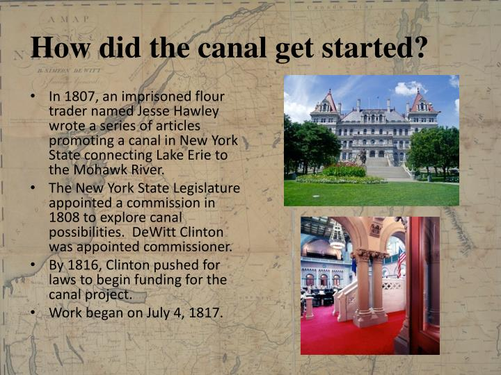 How did the canal get started?