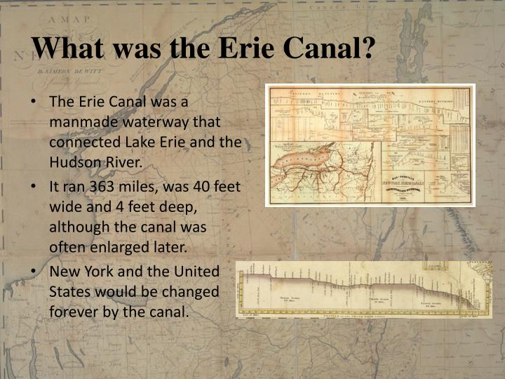 What was the Erie Canal?