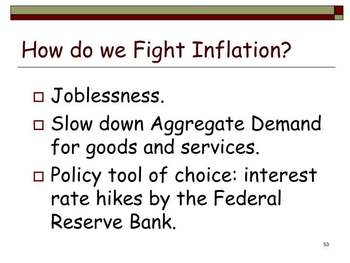 How do we Fight Inflation?