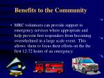 benefits to the community2