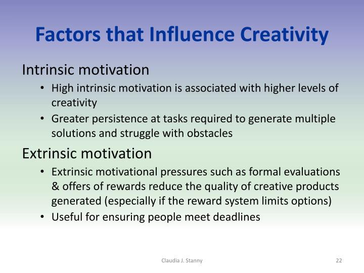 Factors that Influence Creativity