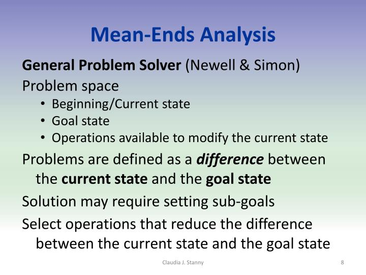 Mean-Ends Analysis