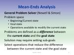 mean ends analysis