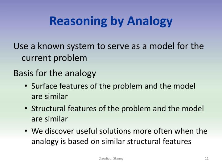 Reasoning by Analogy