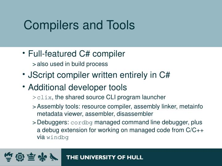 Compilers and Tools