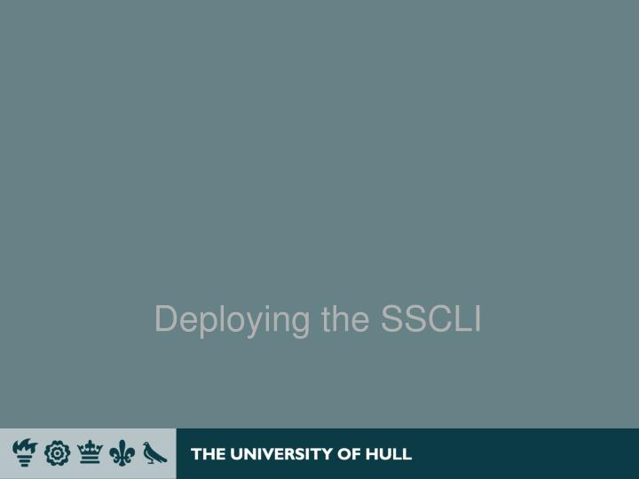 Deploying the SSCLI