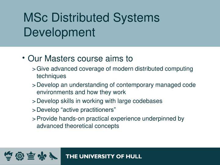 MSc Distributed Systems Development