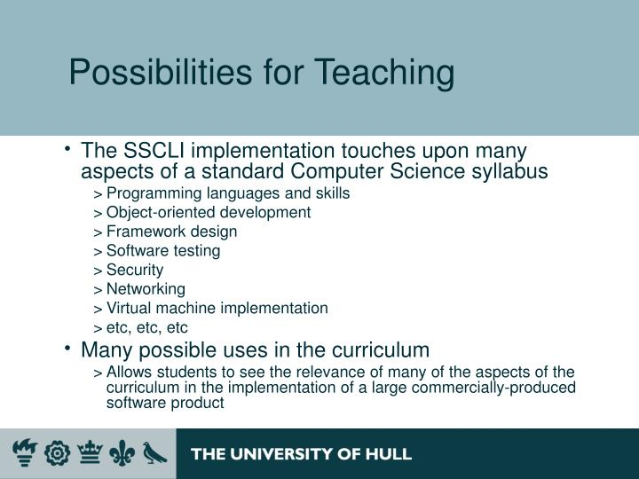 Possibilities for Teaching
