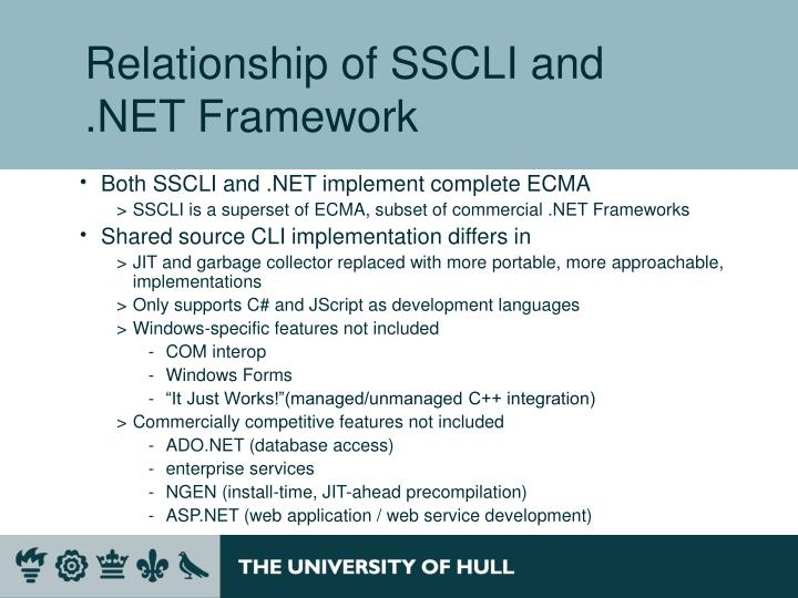 Relationship of SSCLI and .NET Framework