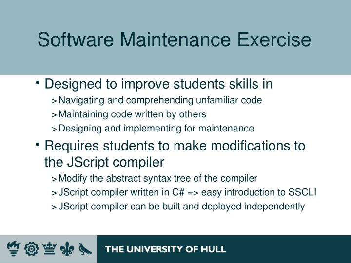 Software Maintenance Exercise