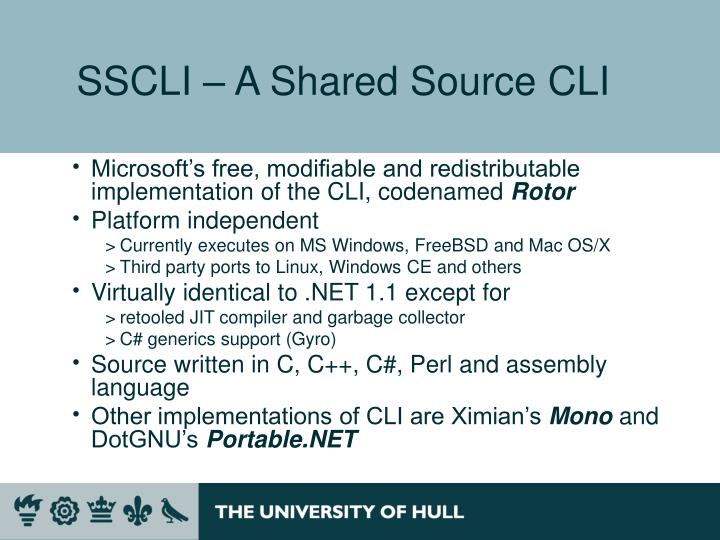 SSCLI – A Shared Source CLI