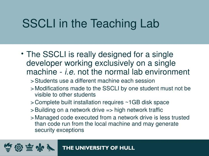 SSCLI in the Teaching Lab