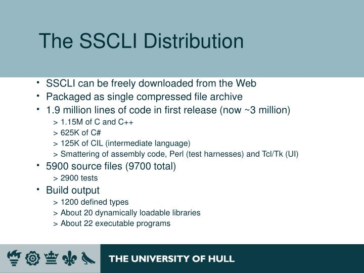 The SSCLI Distribution