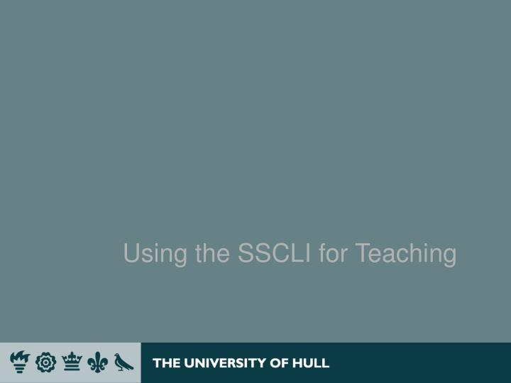 Using the SSCLI for Teaching