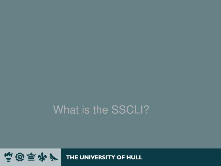 What is the sscli