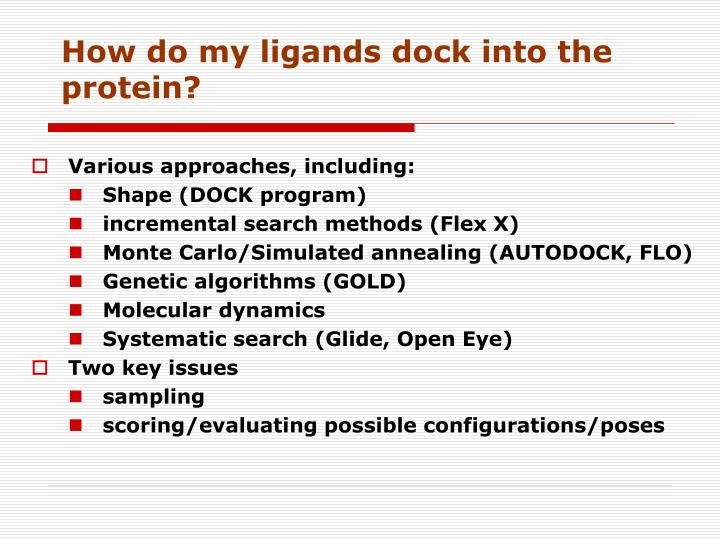 How do my ligands dock into the protein?