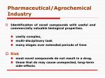 pharmaceutical agrochemical industry