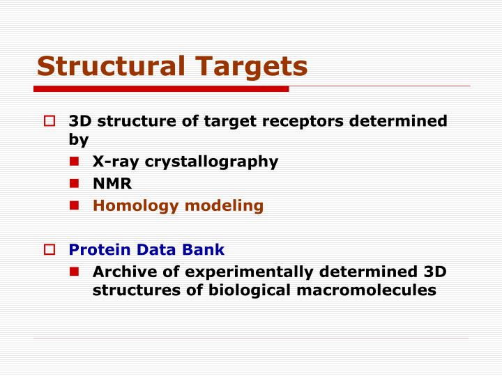 Structural Targets