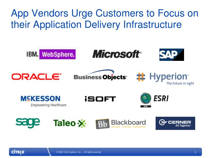 App Vendors Urge Customers to Focus on their Application Delivery Infrastructure