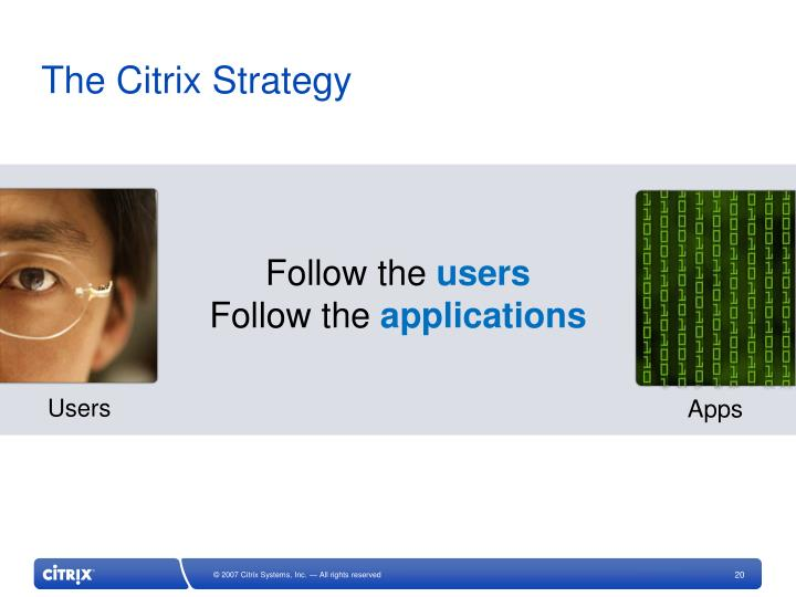 The Citrix Strategy