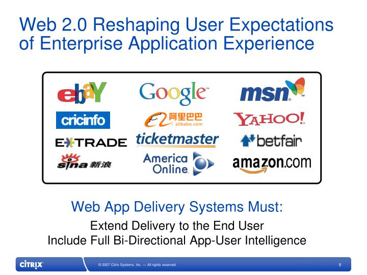 Web 2.0 Reshaping User Expectations of Enterprise Application Experience