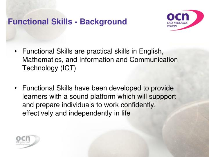 Functional skills background