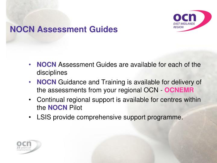NOCN Assessment Guides