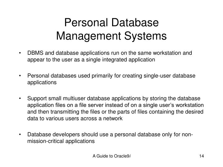 Personal Database