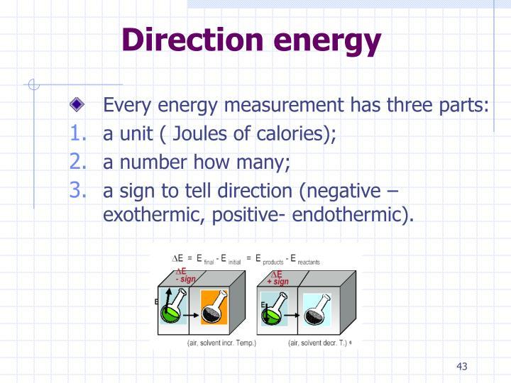 Direction energy