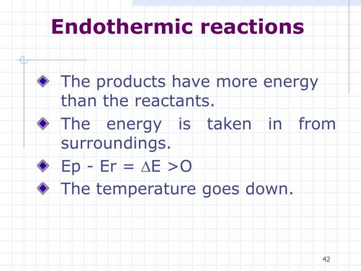 Endothermic reactions
