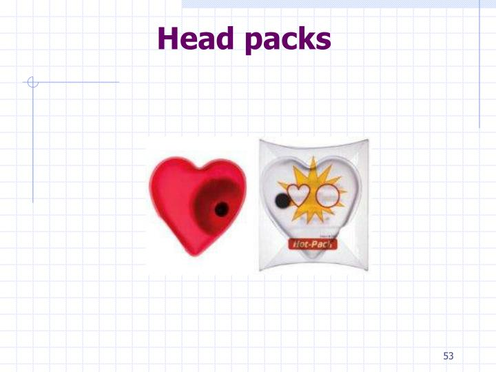 Head packs