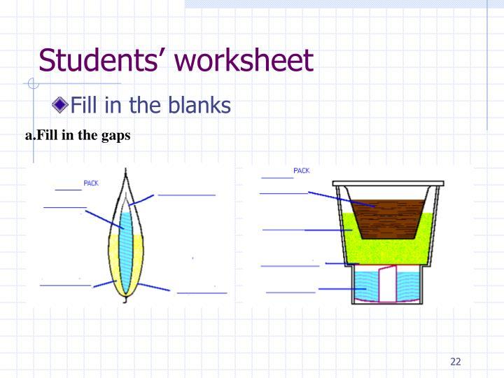 Students' worksheet