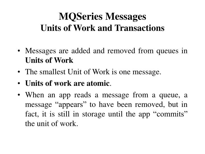 MQSeries Messages