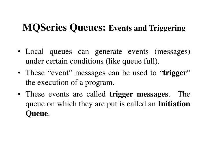 MQSeries Queues: