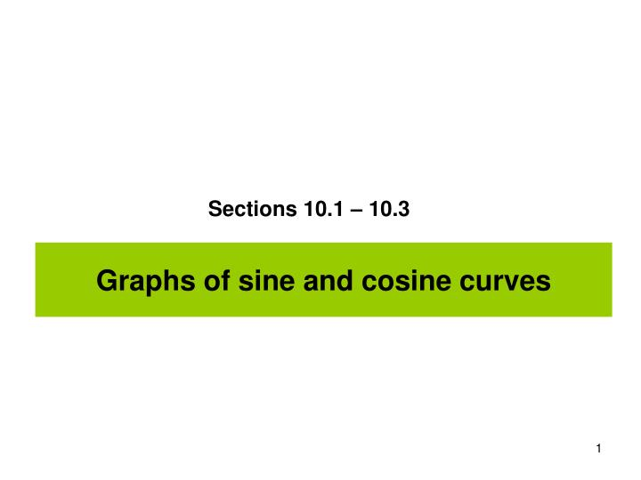 Graphs of sine and cosine curves