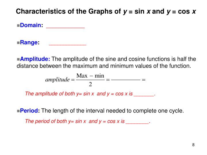 Characteristics of the Graphs of