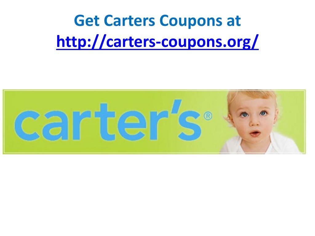 Get Carters Coupons at