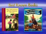 best known books