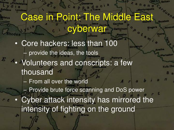 Case in Point: The Middle East cyberwar