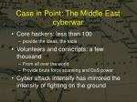 case in point the middle east cyberwar