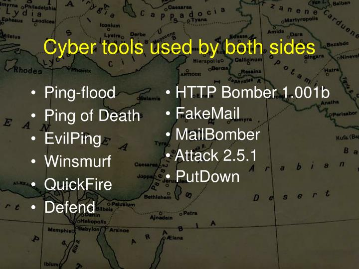 Cyber tools used by both sides