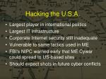 hacking the u s a